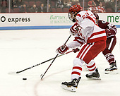 Jakob Forsbacka Karlsson (BU - 23) - The Boston University Terriers defeated the University of Massachusetts Minutemen 3-1 on Friday, February 3, 2017, at Agganis Arena in Boston, Massachusetts.The Boston University Terriers defeated the visiting University of Massachusetts Amherst Minutemen 3-1 on Friday, February 3, 2017, at Agganis Arena in Boston, MA.