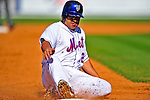 7 March 2009: New York Mets' outfielder Rob Mackowiak slides safely into third after hitting a triple during a Spring Training game against the Washington Nationals at Tradition Field in Port St. Lucie, Florida. The Nationals defeated the Mets 7-5 in the Grapefruit League matchup. Mandatory Photo Credit: Ed Wolfstein Photo