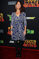 "CENTURY CITY, CA, USA - SEPTEMBER 27: Vanessa Marshall arrives at the Los Angeles Screening Of Disney XD's ""Star Wars Rebels: Spark Of Rebellion"" held at the AMC Century City 15 Theatre on September 27, 2014 in Century City, California, United States. (Photo by Celebrity Monitor)"
