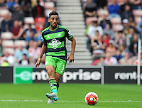 Neil Taylor of Swansea City during the Barclays Premier League match between Sunderland and Swansea City played at Stadium of Light, Sunderland