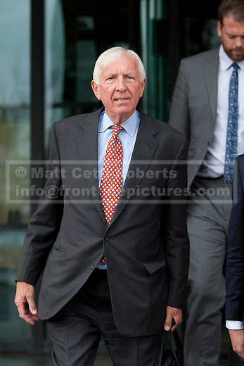 12/09/2012. LONDON, UK. Sir David Walker, the chairman of Barclay's Bank, is seen outside Portcullis House in London today . Photo credit: Matt Cetti-Roberts