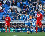 Gerard, RCD Espanyol 0 v 2 Sevilla FC, Jornada 20, RCDE Stadium, La Liga Santander 2017/2018. Barcelona. Photo Martin Seras Lima