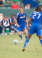CARSON, CA – SEPTEMBER 19: KC Wizard defender Jimmy Conrad (12) during a soccer match at Home Depot Center, September 19, 2010 in Carson California. Final score Chivas USA 0, Kansas City Wizards 2.