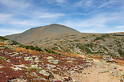 Mount Washington from the Appalachian Trail (Crawford Path) in the White Mountains, New Hampshire during the last days of summer.
