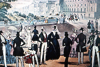 London: Cumberland Terrace, 1840. Fashion Plate.