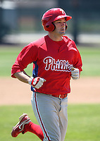 April 1, 2010:  Catcher Tim Kennelly of the Philadelphia Phillies organization during Spring Training at the Carpenter Complex in Clearwater, FL.  Photo By Mike Janes/Four Seam Images