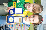 MEDALS: Two members of Glenflesk Comhaltas who won medals at the recent All Ireland Fleadh Cheoil, l-r: Sinead Moynihan (2nd Whistling U-12) and Mairead Kelliher (2nd Irish Singing U-12).   Copyright Kerry's Eye 2008