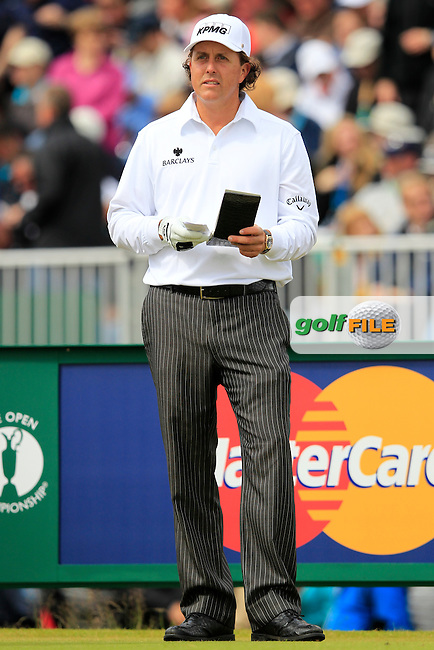 Phil Mickelson (USA) on the 5th tee during Friday's Round 2 of the 141st Open Championship at Royal Lytham & St.Annes, England 20th July 2012 (Photo Eoin Clarke/www.golffile.ie)