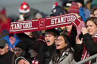 Chester, PA - Sunday December 10, 2017: Stanford University fans during the NCAA 2017 Men's College Cup championship match between the Stanford Cardinal and the Indiana Hoosiers at Talen Energy Stadium.