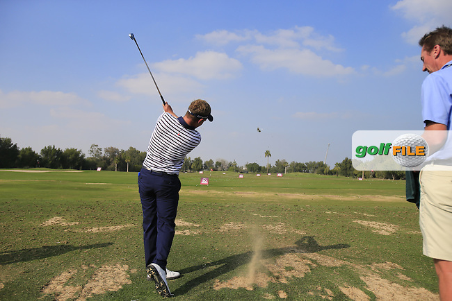 Luke Donald (ENG) swing sequence during Tuesday's Pro-Am of the Commercial Bank Qatar Masters 2014 held at Doha Golf Club, Doha, Qatar. 21st January 2014.<br /> Picture: Eoin Clarke www.golffile.ie