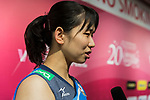 Wing spiker Sarina Koga of Japan talks during post match interview of the FIVB Volleyball World Grand Prix - Hong Kong 2017 match between Japan and Russia on 23 July 2017, in Hong Kong, China. Photo by Yu Chun Christopher Wong / Power Sport Images