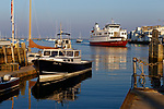Boats in the harbor, Rockland, Maine, USA