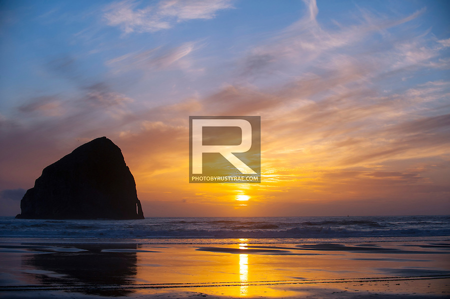 Another glorious sunset at Haystack Rock in Pacific City, OR.