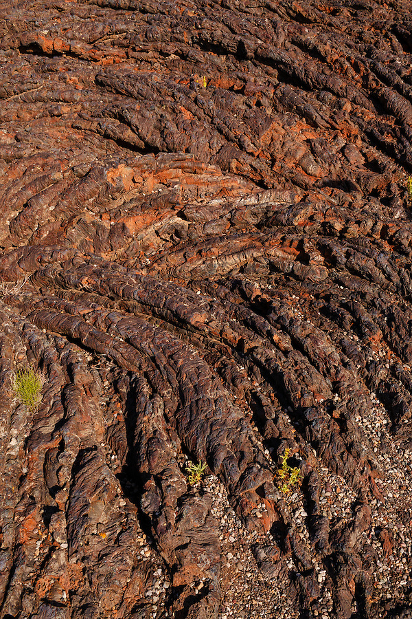 Striations in the volcanic rock at Craters of the Moon National Preserve.