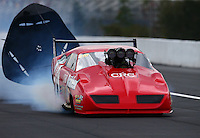 Mar 18, 2016; Gainesville, FL, USA; NHRA pro mod driver Pete Farber during qualifying for the Gatornationals at Auto Plus Raceway at Gainesville. Mandatory Credit: Mark J. Rebilas-USA TODAY Sports