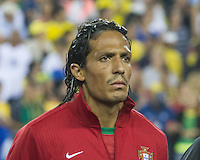 Portugal defender Bruno Alves (2).  In an International friendly match Brazil defeated Portugal, 3-1, at Gillette Stadium on Sep 10, 2013.