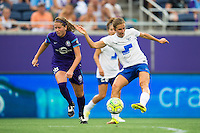 Orlando, FL - Sunday July 10, 2016: Louise Schillgard during a regular season National Women's Soccer League (NWSL) match between the Orlando Pride and the Boston Breakers at Camping World Stadium.