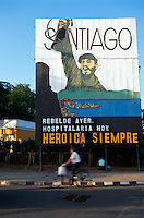 Cuba, Wandbild Che Guevara  in Santiago de Cuba