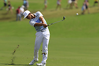 Thorbjorn Olesen (DEN) plays his 2nd shot on the 18th hole during Saturday's Round 3 of the 2017 PGA Championship held at Quail Hollow Golf Club, Charlotte, North Carolina, USA. 12th August 2017.<br /> Picture: Eoin Clarke | Golffile<br /> <br /> <br /> All photos usage must carry mandatory copyright credit (&copy; Golffile | Eoin Clarke)