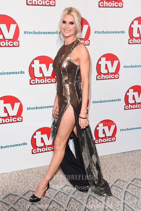 LONDON, UK. September 10, 2018: Sarah Jayne Dunn at the TV Choice Awards 2018 at the Dorchester Hotel, London.<br /> Picture: Steve Vas/Featureflash