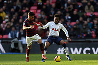 Ayoze Perez of Newcastle United and Danny Rose of Tottenham Hotspur during Tottenham Hotspur vs Newcastle United, Premier League Football at Wembley Stadium on 2nd February 2019