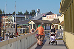 La Conner, Waterfront Boardwalk, Swinomish Channel,  Skagit County, Washington State,