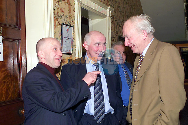Eamon Sweeney, Paud Leech and Michel Woods at teh Louth IFA Meeting in Castlebellingham..Picture Fran Caffrey Newsfile.