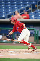 Clearwater Threshers right fielder Zachary Coppola (2) at bat during a game against the Lakeland Flying Tigers on August 5, 2016 at Bright House Field in Clearwater, Florida.  Clearwater defeated Lakeland 3-2.  (Mike Janes/Four Seam Images)