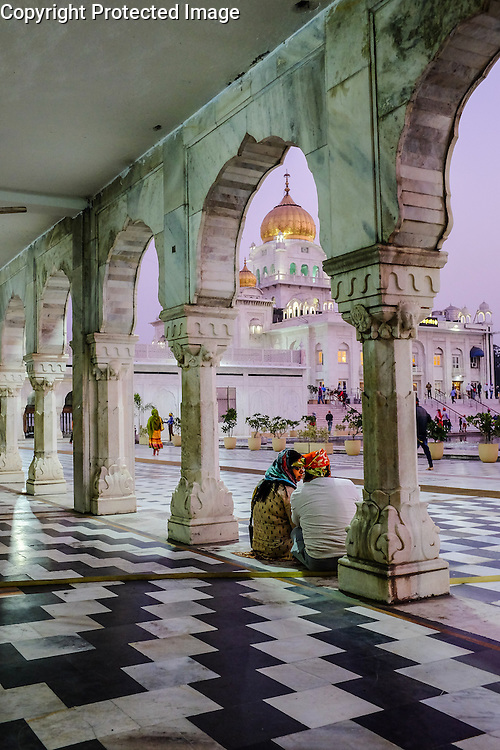 The Gurudwara Bangla Sahib Sikh temple, New Delhi, India