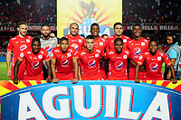 CALI-COLOMBIA , 02-05-2019.Formación del  América de  Cali ante el Cúcuta Deportivo durante partido por la fecha 19 de la Liga Águila I 2019 jugado en el estadio Pascual Guerrero de la ciudad de Cali./ Team of  America de Cali   agaisnt  of Cucuta Deportivo during the match for the date 19 of the Aguila League I 2019 played at Pascual Guerrero stadium in Cali city. Photo: VizzorImage/ Nelson Rios / Contribuidor