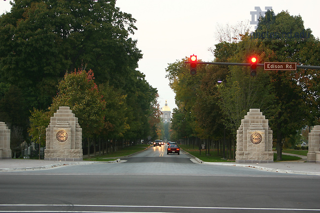 South entrance to Campus at Notre Dame Avenue and Angela.