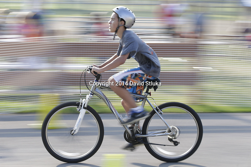 2014 Oregon Kids Triathlon Saturday, August 9, 2014, in Oregon, Wisconsin. (Photo by David Stluka)