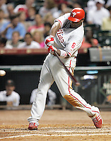 Philadelphia Phillies 1B Ryan Howard on Thursday May 22nd at Minute Maid Park in Houston, Texas. Photo by Andrew Woolley / Baseball America..
