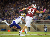Stanford, CA - October 5, 2019: Colby Parkinson at Stanford Stadium. The Stanford Cardinal beat the University of Washington Huskies 23-13.