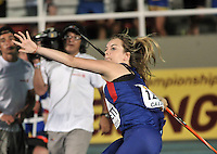 CALI - COLOMBIA - 15-07-2015: Emma Hamplett, de Gran Bretaña en la prueba de Lanzamiento de Jabalina Damas, en el estadio Pascual Guerrero sede, sede del IX campeonato Mundial de Atetismo Juvenil 2015.  / Emma Hamplett, of Great Britain in the Javelin Trow Girls, test in the Pascual Guerrero home of the IX World Youyh Campionshps -2015. Photos: VizzorImage / Luis Ramirez / Staff.