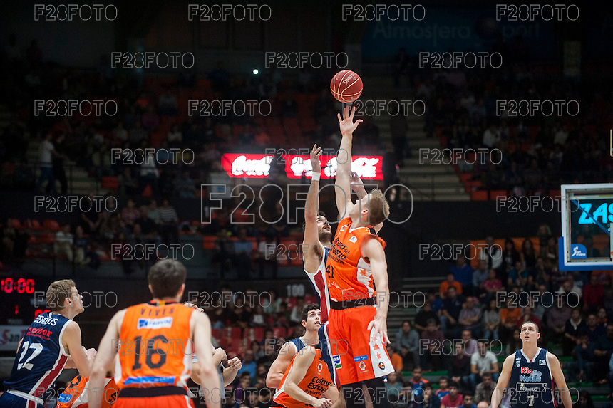 VALENCIA, SPAIN - OCTOBER 31: Hamilton during ENDESA LEAGUE match between Valencia Basket Club and Rio Natura Monbus Obradoiro at Fonteta Stadium on   October 31, 2015 in Valencia, Spain