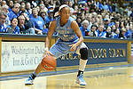 03 March 2013: North Carolina's Latifah Coleman. The Duke University Blue Devils played the University of North Carolina Tar Heels at Cameron Indoor Stadium in Durham, North Carolina in a 2012-2013 NCAA Division I and Atlantic Coast Conference women's college basketball game. Duke won the game 65-58.