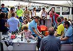 Nederland, Urk, 19-05-2012 Vlaggetjesdag op Urk. Presentatie en promotie van de visindustrie. 'Vlaggetjesdag' in Urk a promotion event of the Dutch Sea fishindustry.  Foto: Gerard Til / Hollandse Hoogte.