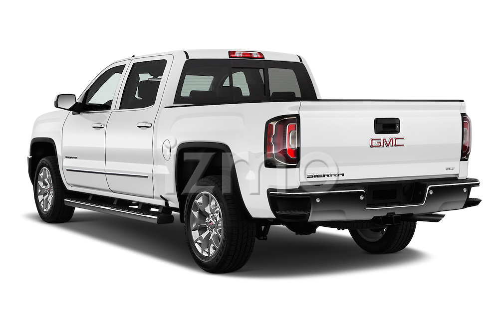 Car pictures of rear three quarter view of 2017 GMC Sierra-1500 Crew-Cab-Short-Box-SLT 4 Door Pickup Angular Rear