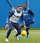 14.08.2019 Rangers training: James Tavernier and Sheyi Ojo