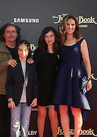 "04 April 2016 - Hollywood, California - Brad Silberling, Amy Brenneman, Charlotte Tucker Silberling, Bodhi Russell Silberling. ""The Jungle Book"" Los Angeles Premiere held at the El Capitan Theatre. Photo Credit: Sammi/AdMedia"