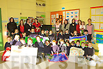 Parents & pupils in Scoil Bhreanainn, Portmagee have had their sleeves up over the last 8 weeks creating literacy resources in the form of story sacks for the school.  The sessions were guided by Tara Kavanagh in a creative and inspiring manner.  The project was funded by the KES & DEIS.  Included in the picture back l-r; Deirdre Fitzgerald(K.E.S.), Myra Hulme, Laura Nugent(class teacher), Angela Murphy, Susan Daly(D.E.IS Co-ordinator), Eithne Riordan, Karen Stenson(Principal), Cyndy Riordan & Angela O'Shea(S.N.A.)