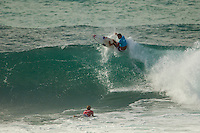 HONOLULU - (Tuesday, November 27, 2012)Pancho Sullivan (HAW) and Dane Reynolds (USA). . -- The VANS World Cup of Surfing, a ASP Prime Event with$250,000 in prize-money  officially got  underway at Sunset Beach today, with waves in the 5-7 foot range. The second jewel of the $1M VANS Triple Crown of Surfing, the VANS World Cup will require four full days of competition between now and December 6...Winner of the first jewel - the REEF Hawaiian Pro - last week was Sebastian Zietz (HAW). Zietz is seeded through to the round of 64 and will surf on Day 3 of the competition...Surfing today are: Pancho Sullivan (HAW) Nathan Hedge (AUS); Ezekiel Lau (HAW); Ricardo Dos Santos (BRA); Ian Walsh (HAW); Ian Gentil (HAW); Garrett parkes (AUS);  and Mason Ho (HAW) all advanced today.  Photo: joliphotos.com