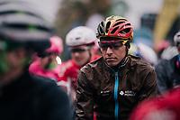 Oliver Naesen (BEL/AG2R-La Mondiale) at the start<br /> <br /> 76th Paris-Nice 2018<br /> Stage 7: Nice > Valdeblore La Colmiane (175km)