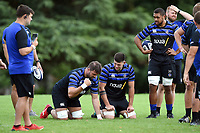 Elliott Stooke and Rhys Davies of Bath Rugby. Bath Rugby pre-season training on August 14, 2018 at Farleigh House in Bath, England. Photo by: Patrick Khachfe / Onside Images