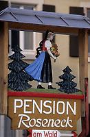 Europe/Allemagne/Forêt Noire/Glottertal : Enseigne d'une pension