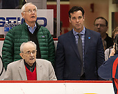 Prior to the game Jim Prior was honored for 30 years as the Terriers public address announcer. - The Boston University Terriers defeated the visiting Merrimack College Warriors 4-0 (EN) on Friday, January 29, 2016, at Agganis Arena in Boston, Massachusetts.