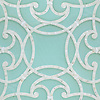 Abigail, a handmade mosaic shown in honed Aquaberyl glass and polished Calacatta. Designed by New Ravenna.