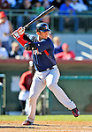 11 March 2011: Boston Red Sox infielder Aaron Bates in action during a Spring Training game against the Houston Astros at Osceola County Stadium in Kissimmee, Florida. The Red Sox defeated the Astros 9-3 in Grapefruit League play. Mandatory Credit: Ed Wolfstein Photo