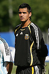 06 July 2007: Argentina's Sergio Romero, pregame. Argentina's Under-20 Men's National Team defeated North Korea's Under-20 Men's National Team 1-0 in a Group E opening round match at Frank Clair Stadium in Ottawa, Ontario, Canada during the FIFA U-20 World Cup Canada 2007 tournament.